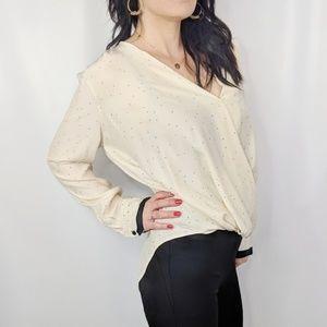 RAG & BONE Victor silk surplice blouse NWOT 0360